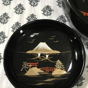 Aizu Dining - 5PC. AIZU Japanese Vintage Lacquer Salad Bowl Set